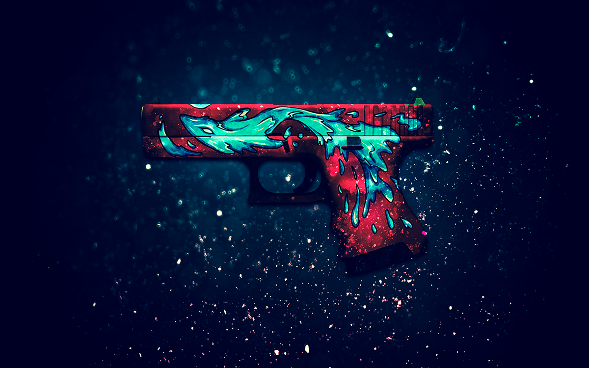 cs go weapon skin wallpapers on behance