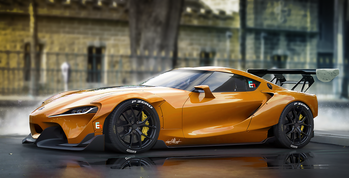 Toyota Ft1 Price >> Toyota Ft1 Wide Body Kit On Behance