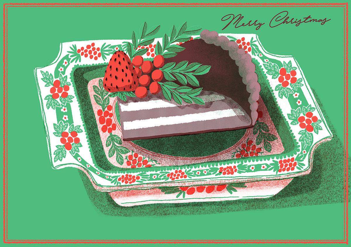 Christmas card stationary colour animal cup teatime instrument santa angel