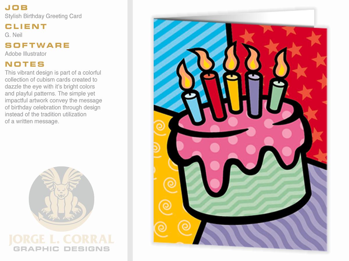 Stylish Birthday Greeting Card On Behance