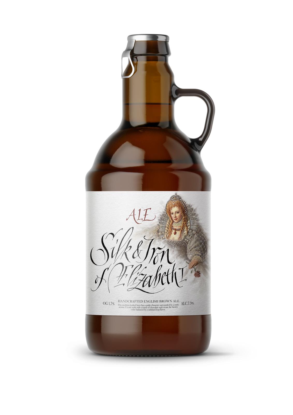 Retro alcohol ale Label fine art wine label graphic art beer lettering ILLUSTRATION