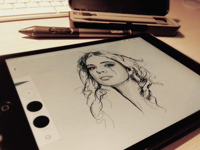 Enrico Manini paint4wall Wacom Intuos iPad adobe draw