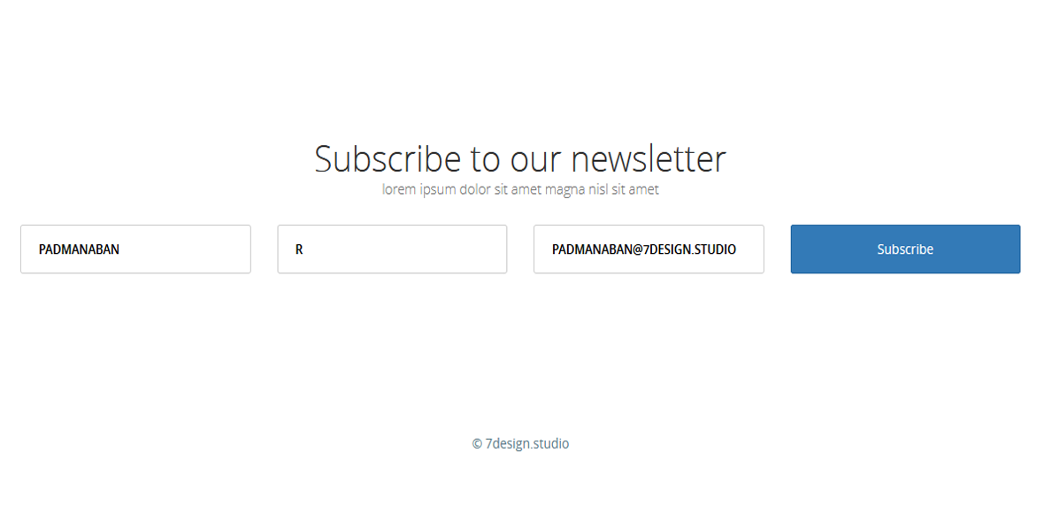 Subscribe Newsletter Form | HTML5 and CSS3 on Behance