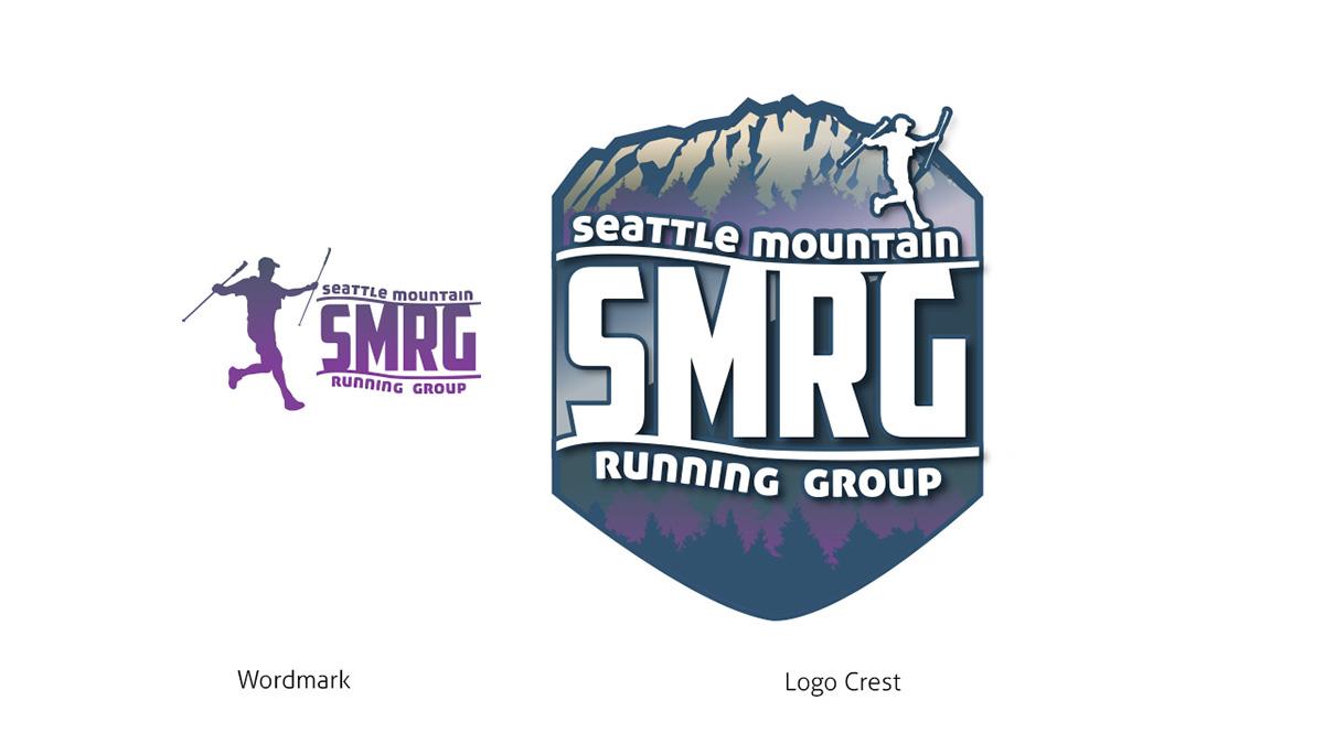 Seattle Mountain Running group trail running logo mountain running seattle mount si