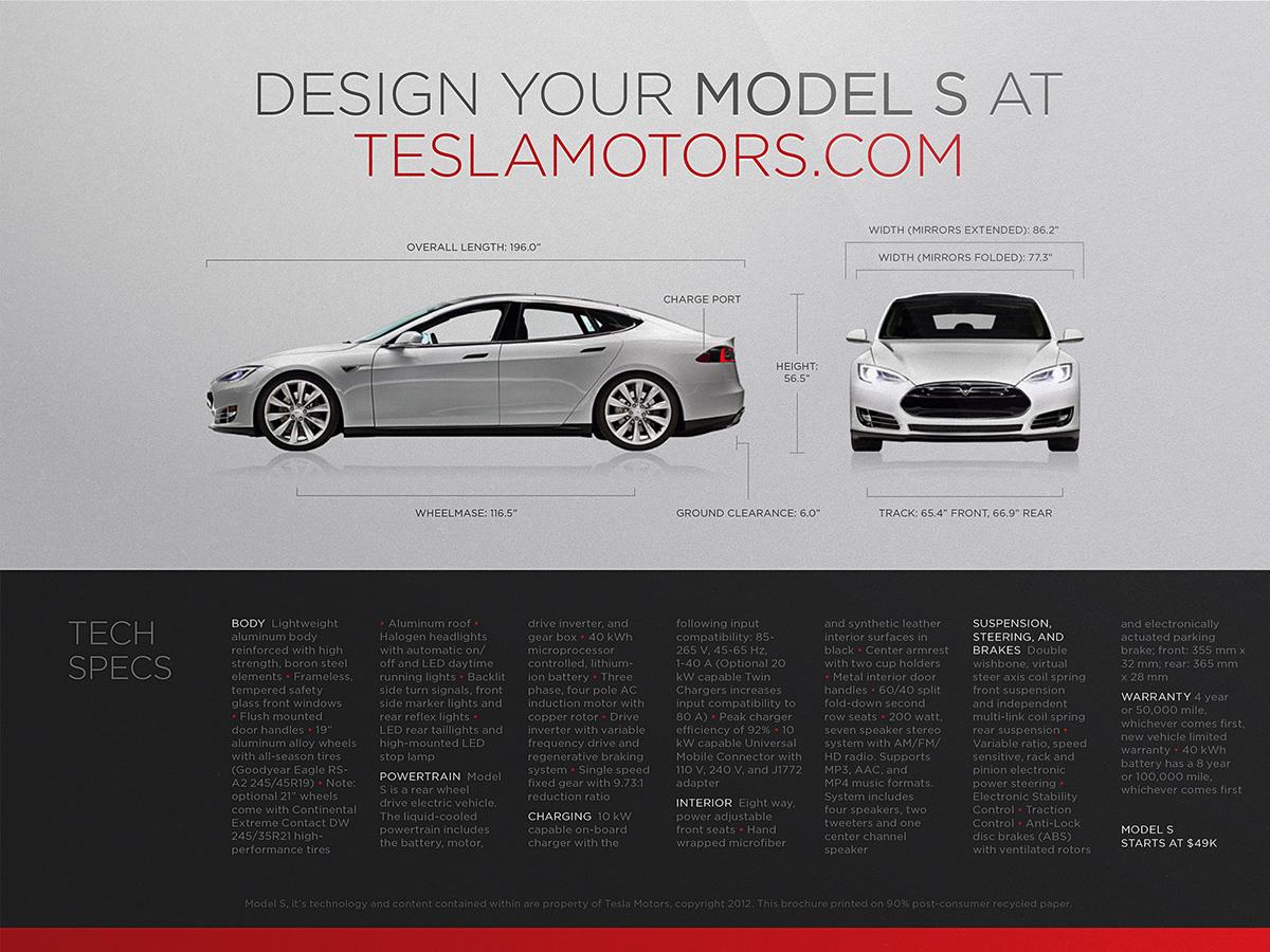 Tesla Model S Brochure on Behance