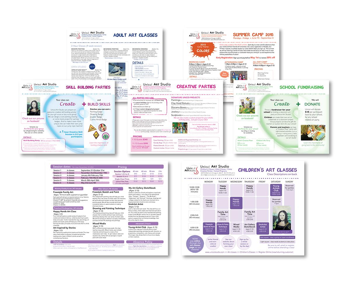 pamphlet art classes info informational
