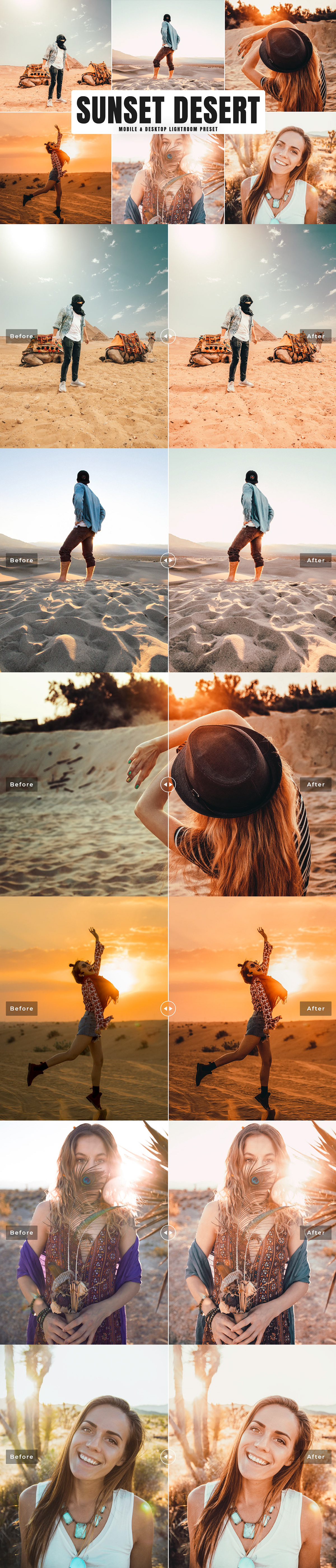 Free Sunset Desert Mobile & Desktop Lightroom Preset on