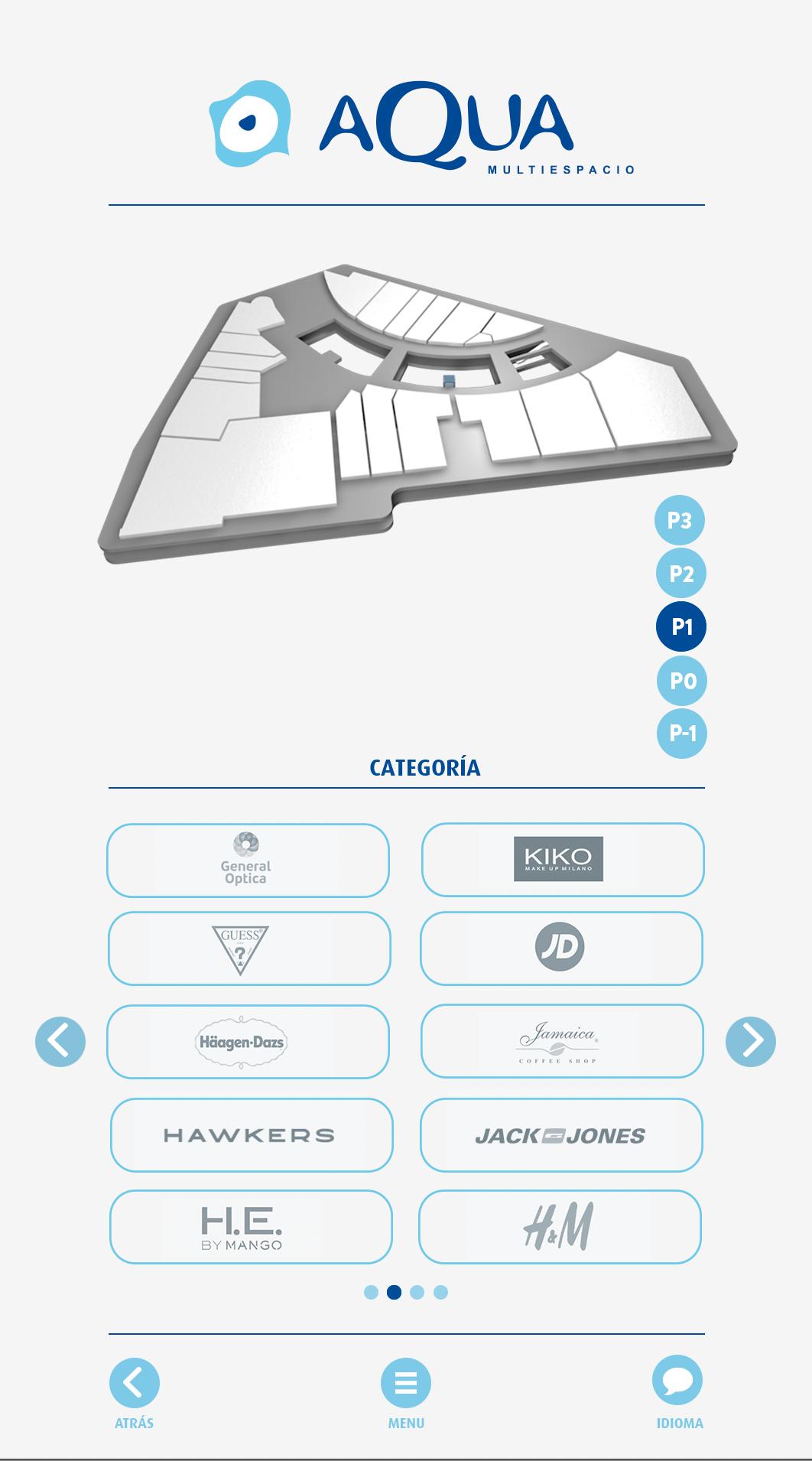 3D app centroscomerciales cinema4d directorios planos