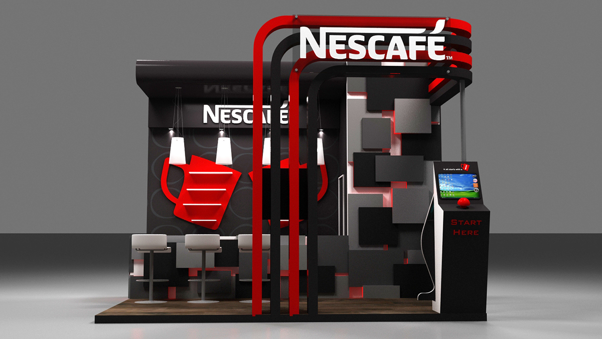 Exhibition Stand Options : Nescafe activation booth on behance