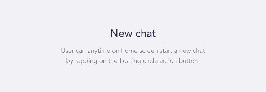 UI ux app ios Chat messeneger material motion design