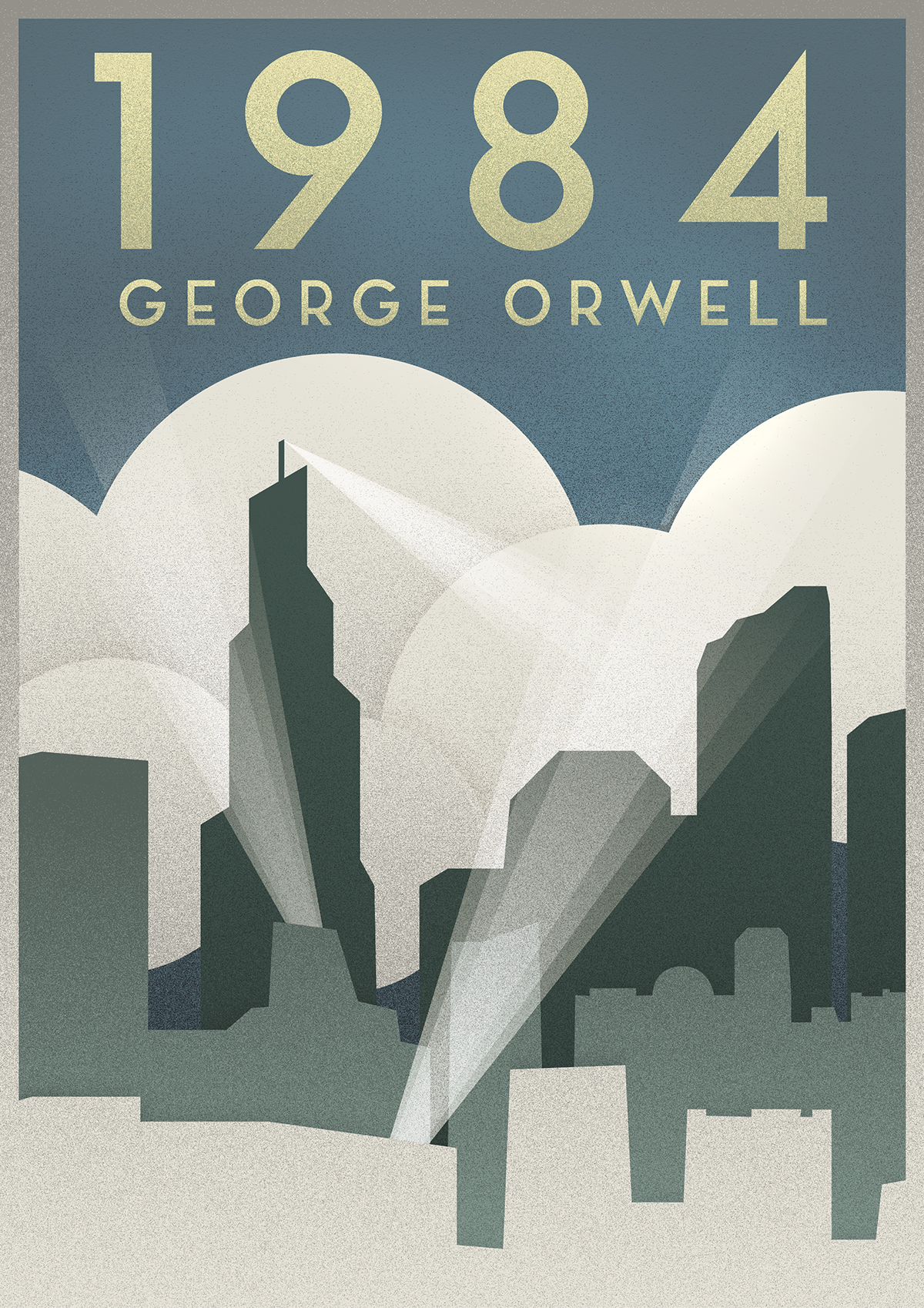 George Orwell 1984 Art Deco Poster On Behance