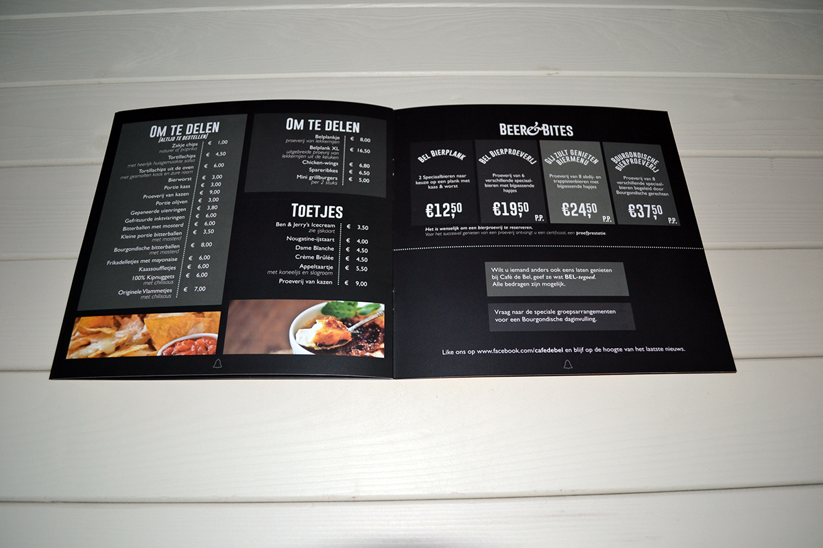 menu cafe pub beer black White on black Food