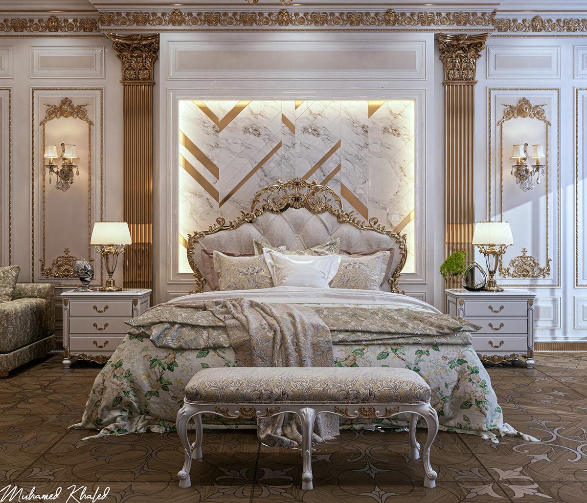 Classic Bedroom Design on Behance