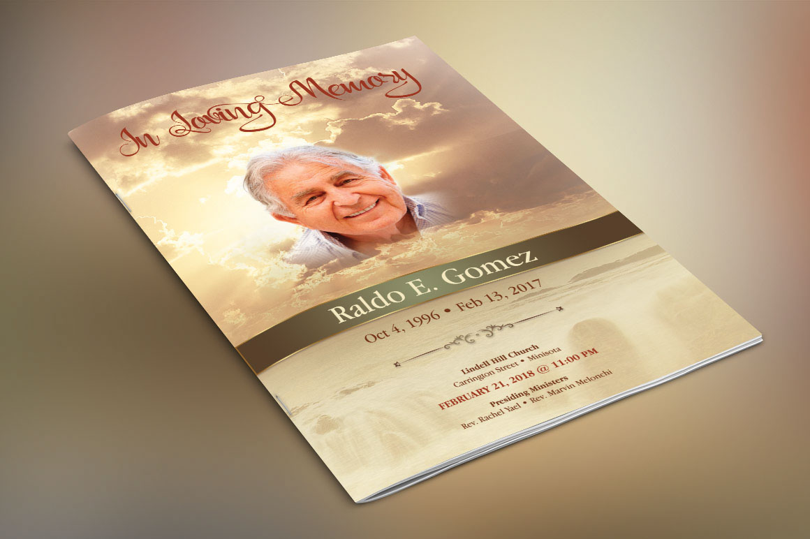 Forever Funeral Program Template On Behance