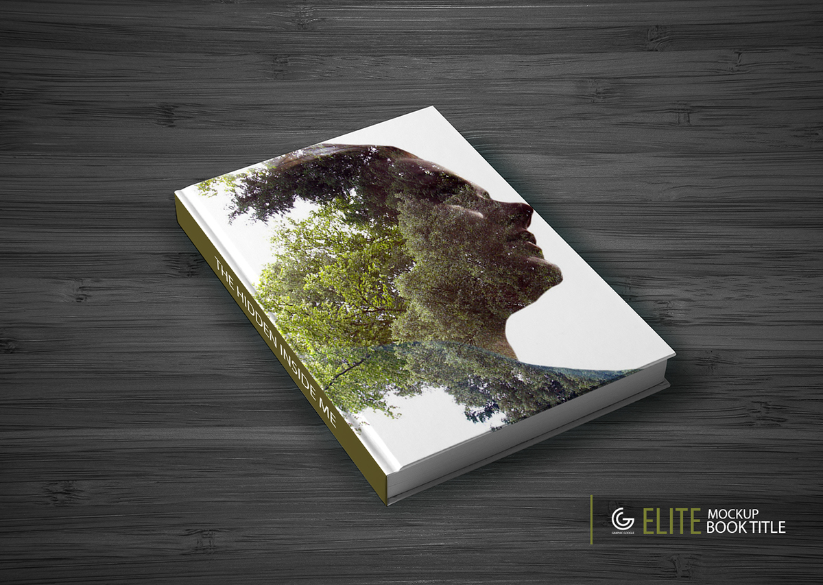Mockup book title free mockup