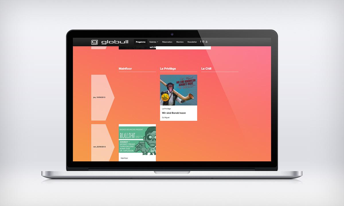 Website Globull Club on Behance