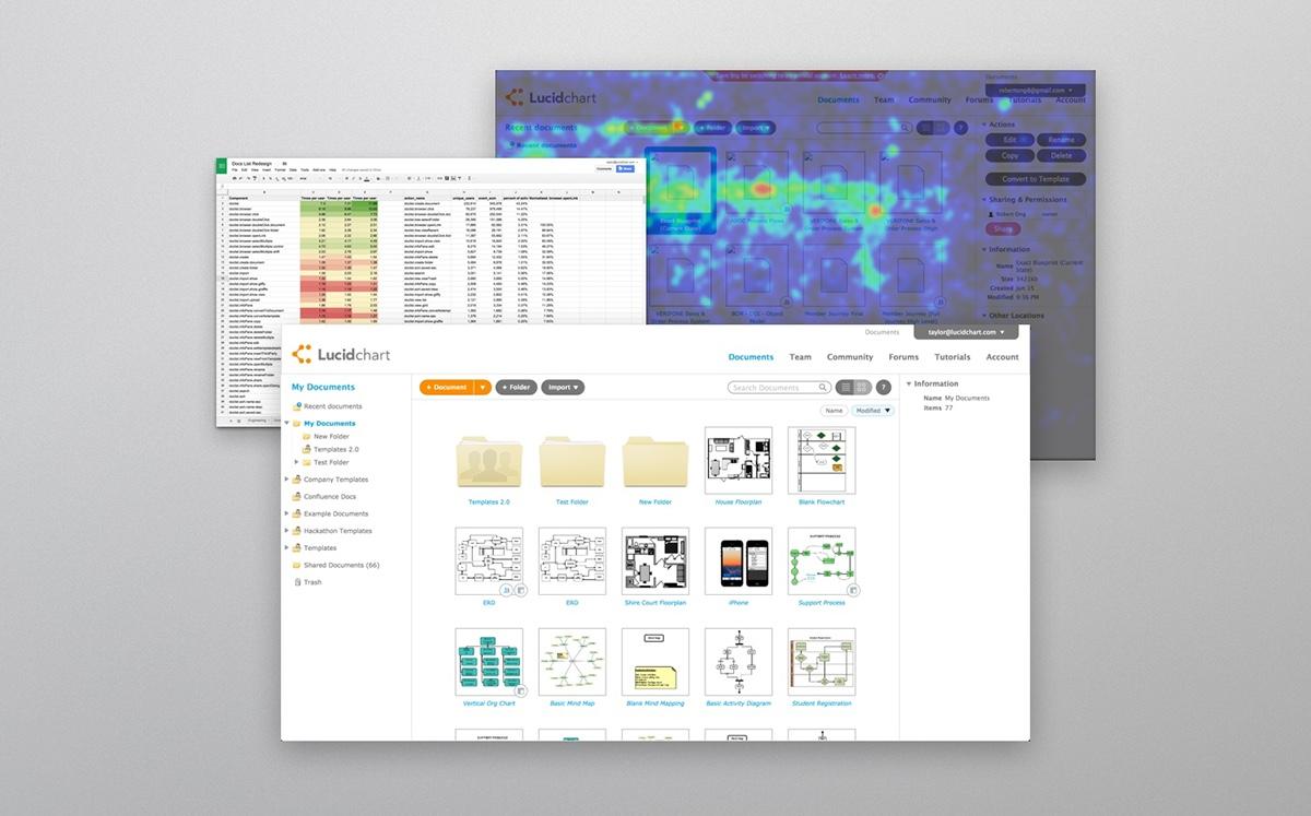 Lucidchart Documents Redesign on Behance