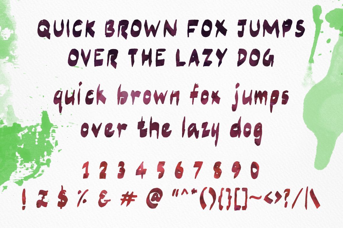 free Free font Typeface Marker poster business card brush Brush font freebie