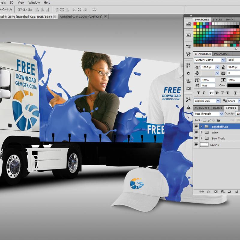Vehicle mockup truck mockup Free PSD Download free psd free mockup  free psd mockup Free Mockup Download smart objects