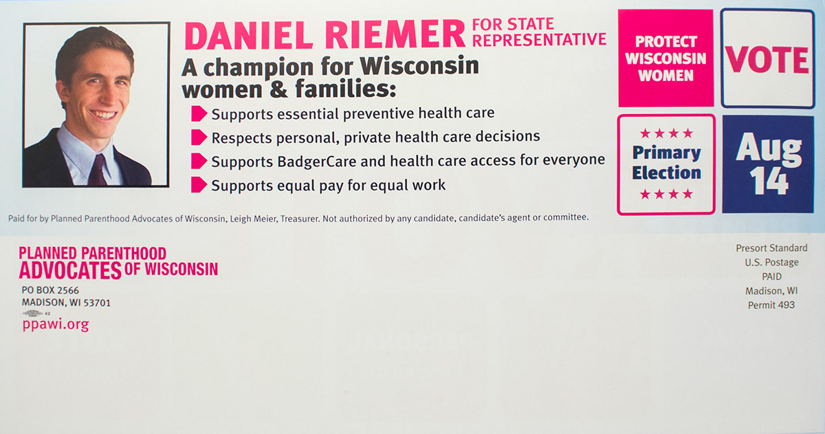 Election postcard mailing Direct mail