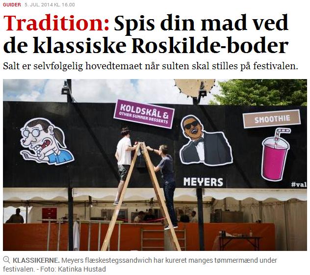 meyers meyers deli Roskilde Festival Food  food stand
