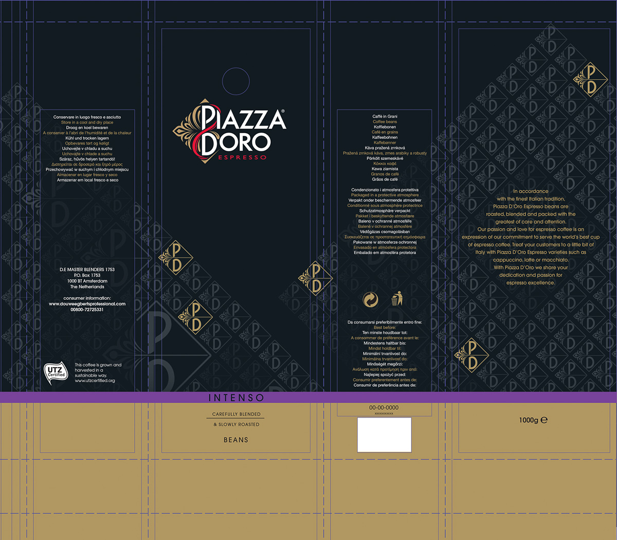 Print-ready files & 3D texturing PIAZZA D'ORO on Behance
