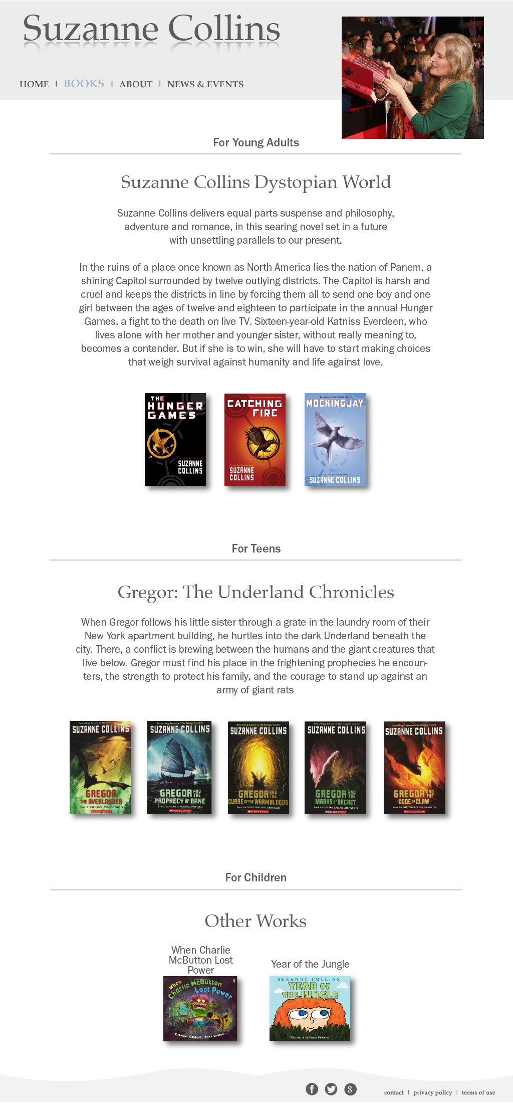 Suzanne Collins Website Redesign on Behance