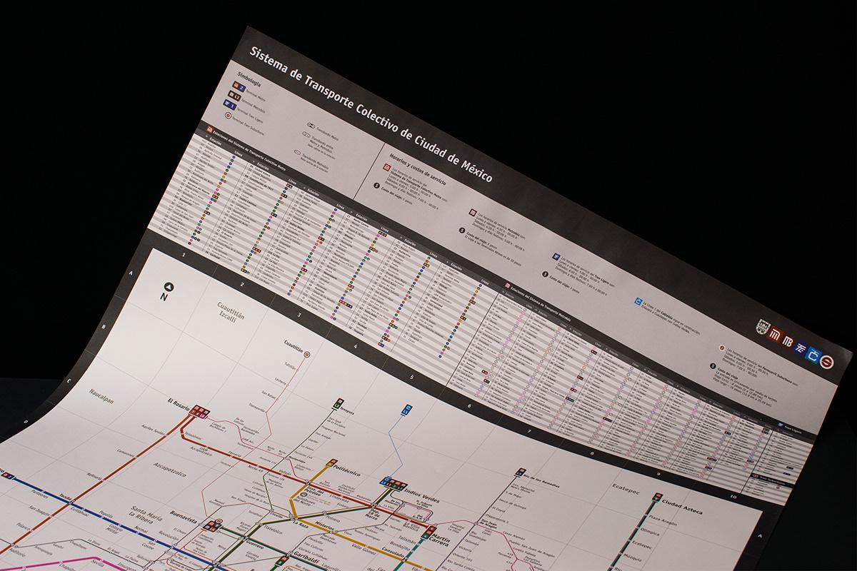 CDMX information design map metro mexico subway subway map Transit transit map Transport