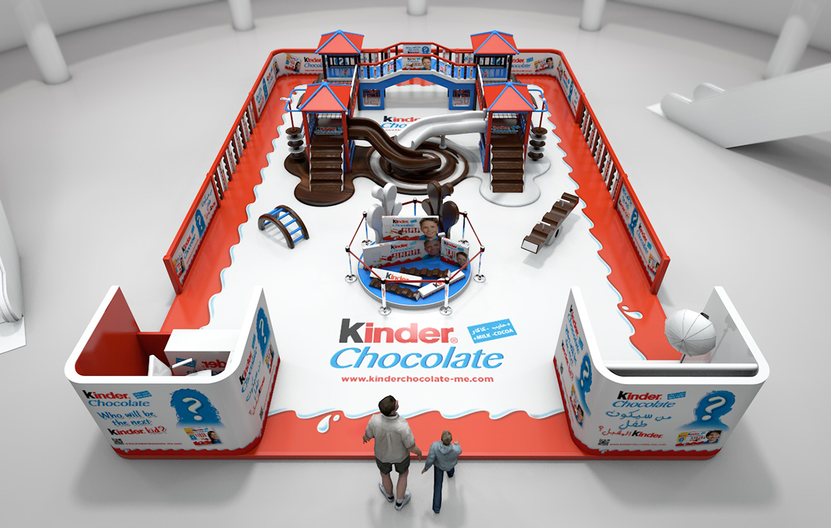 Ideas For Small Exhibition Stands : Kinder chocolate quot kid face activation stand on behance