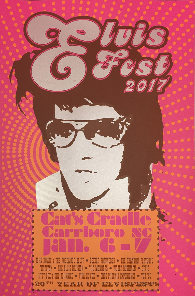 Elvis Fest Poster, 3 color limited edion screen print on Behance