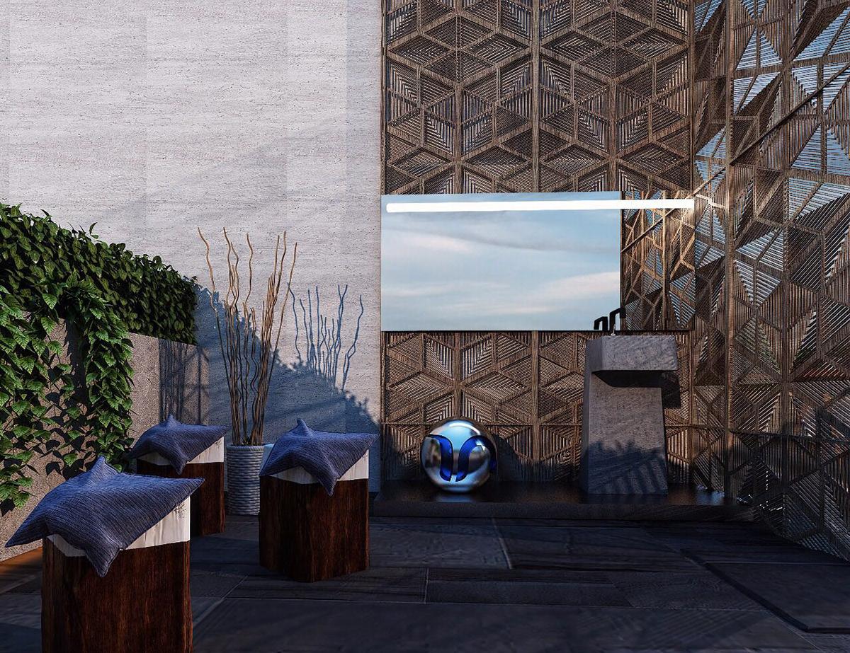 PRIVATE VILLA ROOF GARDEN IN KUWAIT CITY on Behance