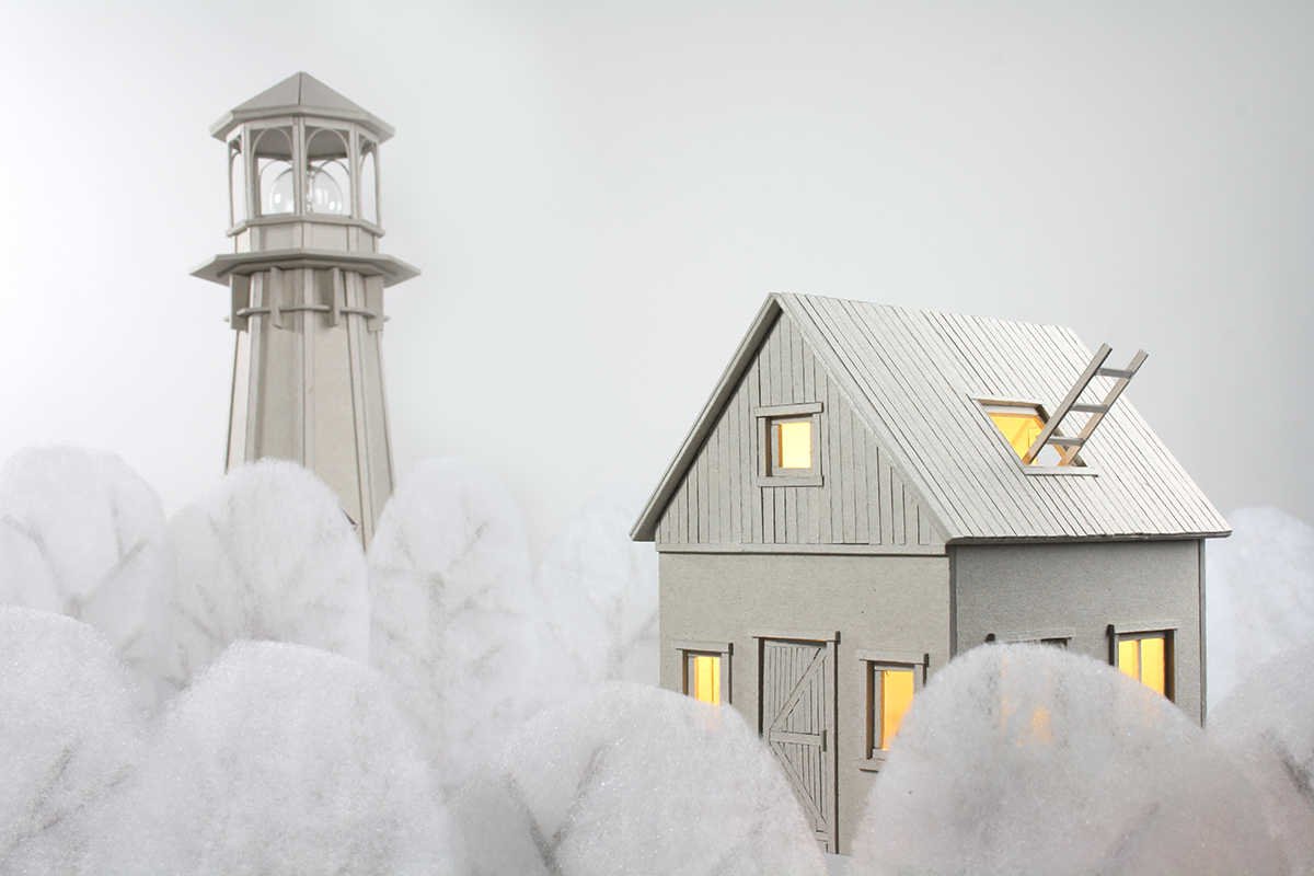 cardboard Lamp Cardboard lamp  house house lamp lighthouse paper