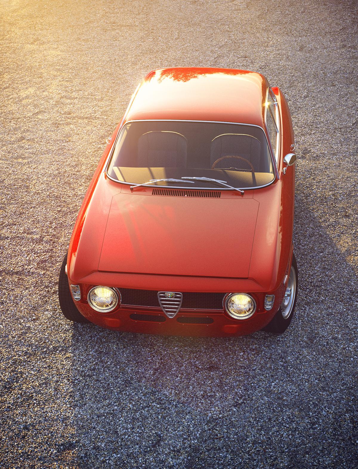 Alfa Romeo Giulia GTA (full Cgi) On Student Show