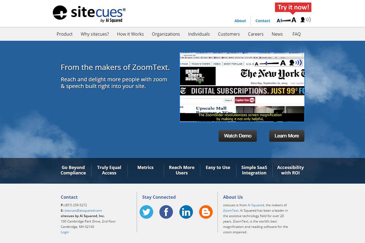 Sitecues Mockup