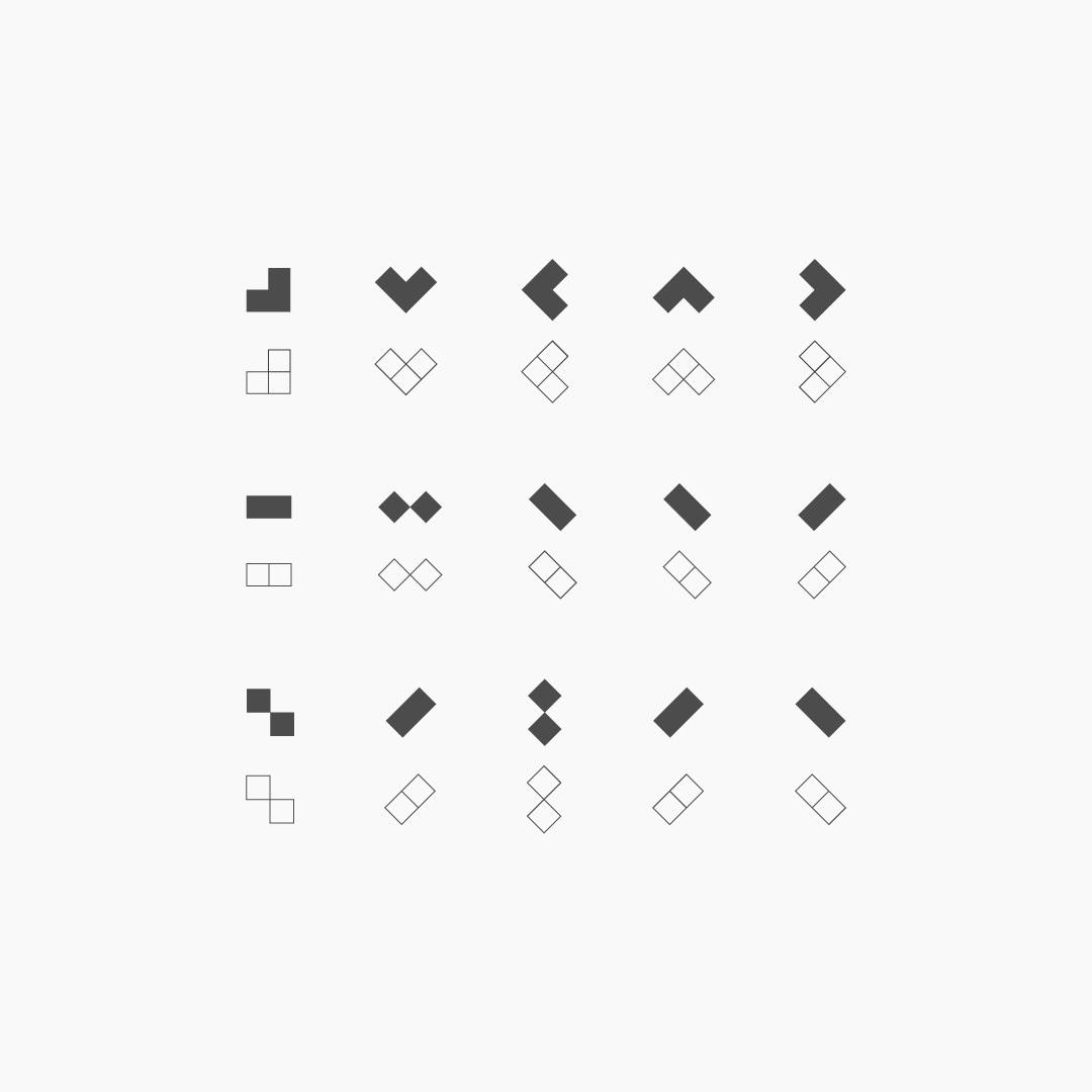 visual identity logomark square
