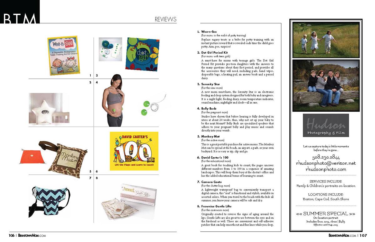editorial design beantown mom magazine on behance