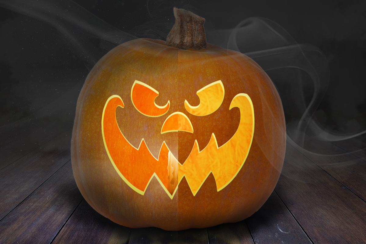 Free Jack-O\'-Lantern PSD Mockup for Halloween on Behance