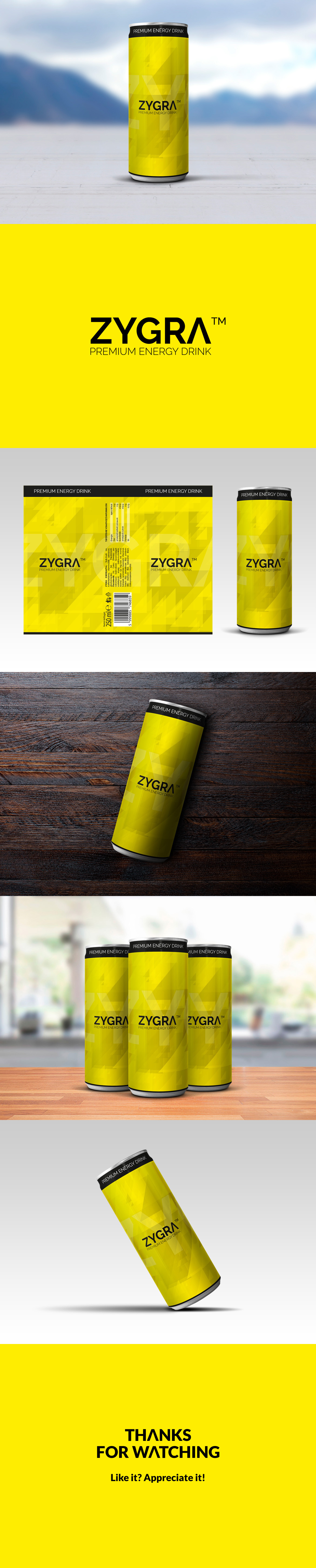 Packaging graphic design  product design  energy drink beverage ILLUSTRATION  vector graphic zygra
