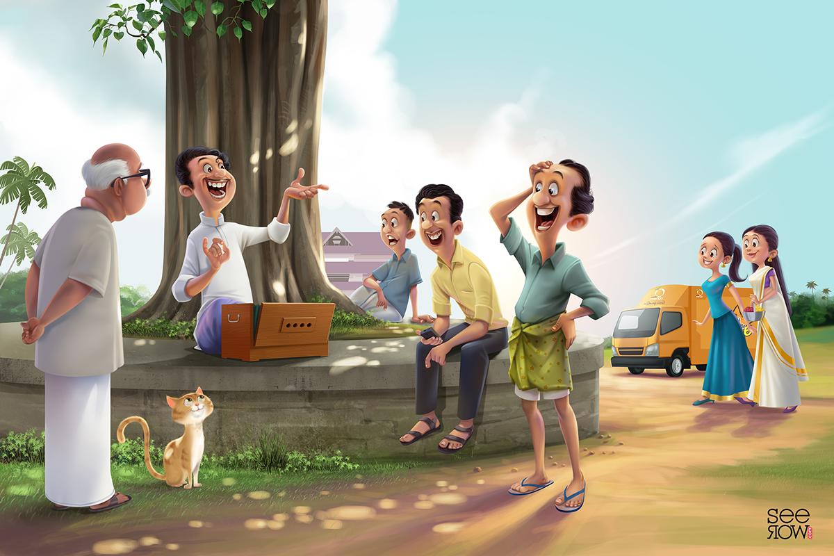 radio mango art local newspaper ad The Local Network malayalam kerala India