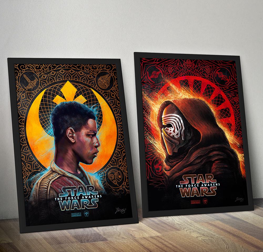 star Wars force awakens digital art photoshop wacom Finn KYLO REN poster alternative movie Cinema