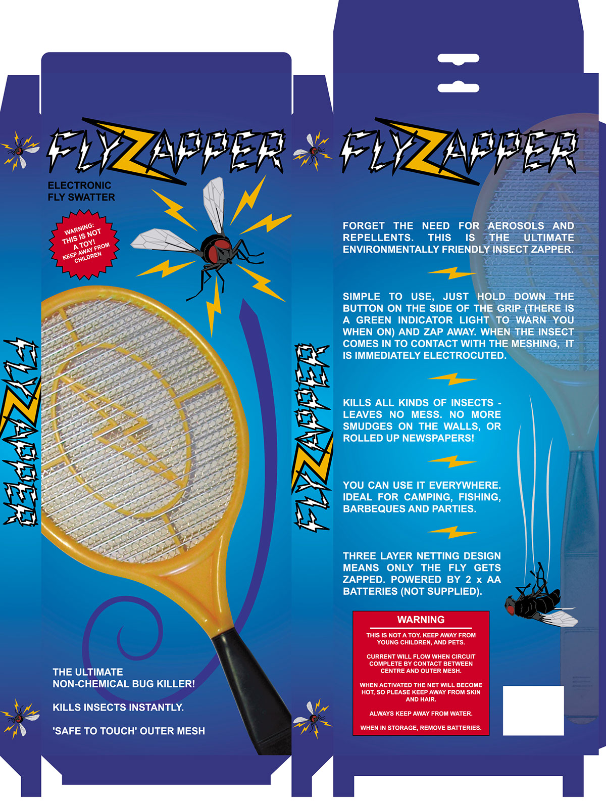 Fly Zapper Packaging Artwork 2003 On Behance Bug Circuit Simple Electronics I Look Back At This Now Are You Realise How Little Knew Then About Net Design Bleed Typography Pre Flight Checking And Photography