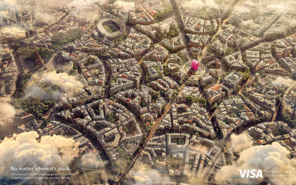 Visa Travel insurance impact BBDO dubai Paris city architecture Web