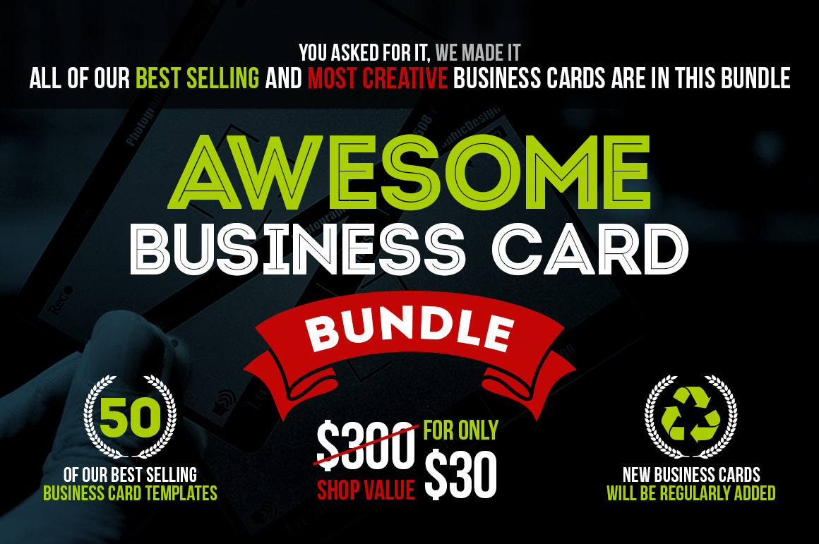 Awesome business card bundle on behance this business card bundle contains 50 high quality business card templates more business cards will be added to this bundle very soon reheart