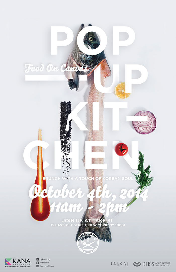 Popup kitchen Events Food  Culinary arts Kana poster