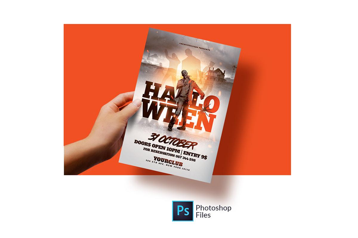 halloween flyer template on wacom gallery