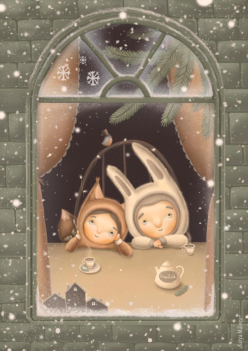 Love peace calm book kids children book postcards postcard cute family feeling