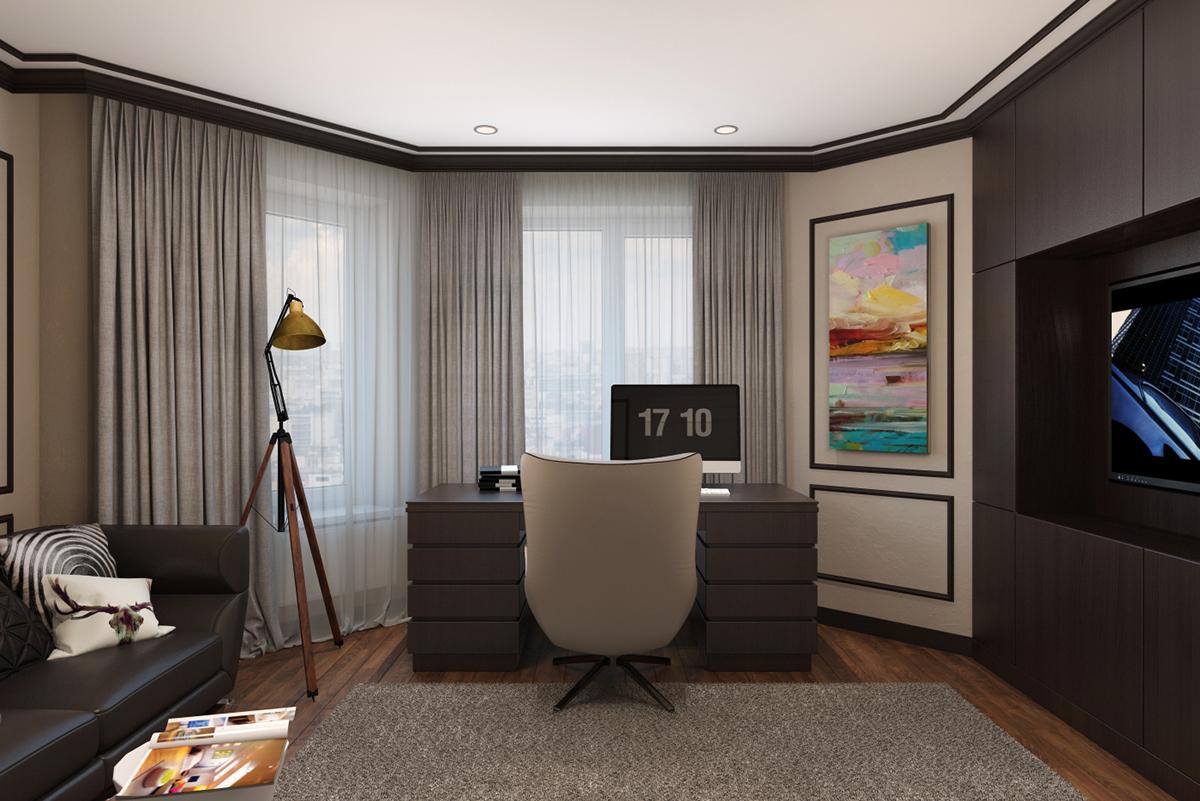 modern classic interior design home office designs on behance rh behance net modern classic home office modern classic office desk
