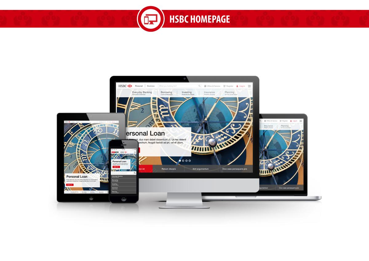 HSBC UI ux vision concept mobile Responsive Bank banking accountopening