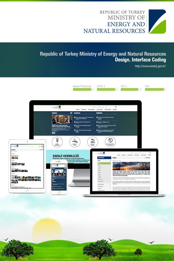 energy Ministry natural resources enerji bakanlık web portal web site Web