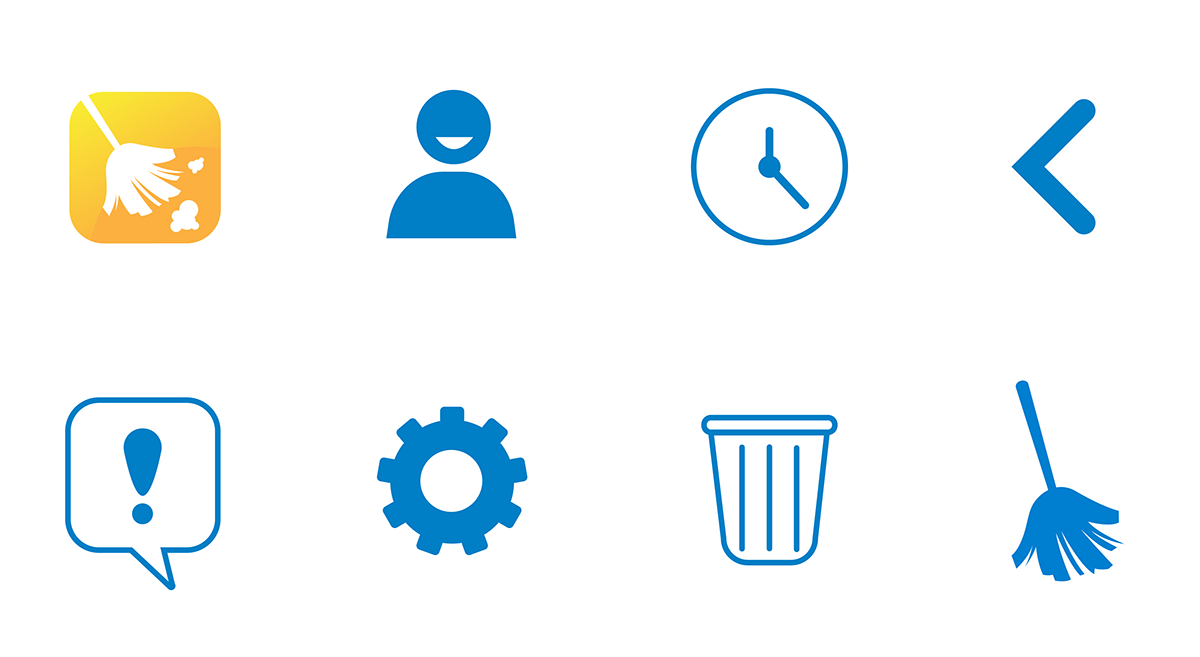 iconography icons organize roommates Chores ux UI clean app